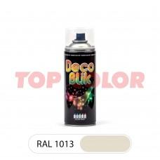 Спрей-краска в баллончике DECO BLIK RAL 1013 Жемчужно-белый 0,4л