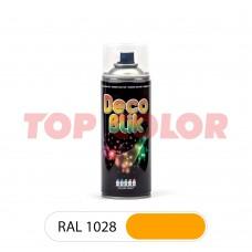 Спрей-краска в баллончике DECO BLIK RAL 1028 Дынно-желтый 0,4л