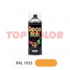 Спрей-краска в баллончике DECO BLIK RAL 1033 Георгиново-желтый 0,4л