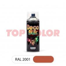Спрей-краска в баллончике DECO BLIK RAL 2001 Красно-оранжевый 0,4л