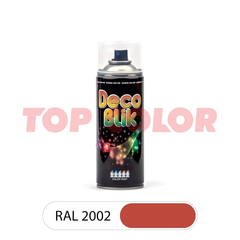 Аэрозольная краска DECO BLIK RAL 2002 Алый 0,4л