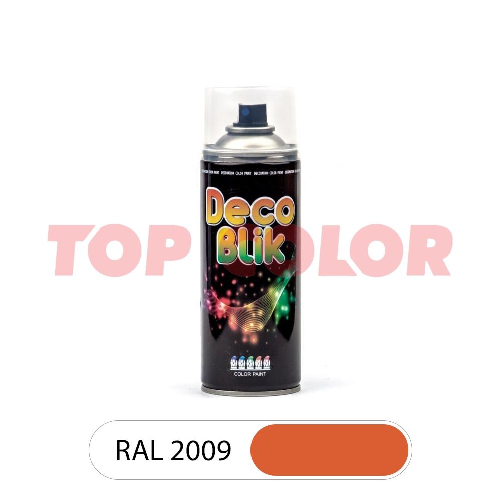 Аэрозольная краска DECO BLIK RAL 2009 Транспортный оранжевый 0,4л