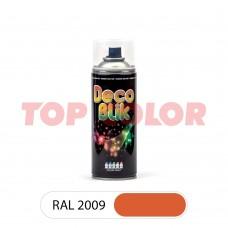 Спрей-краска в баллончике DECO BLIK RAL 2009 Транспортный оранжевый 0,4л