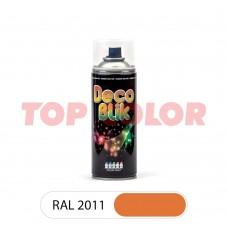 Спрей-краска в баллончике DECO BLIK RAL 2011 Насыщенный оранжевый 0,4л