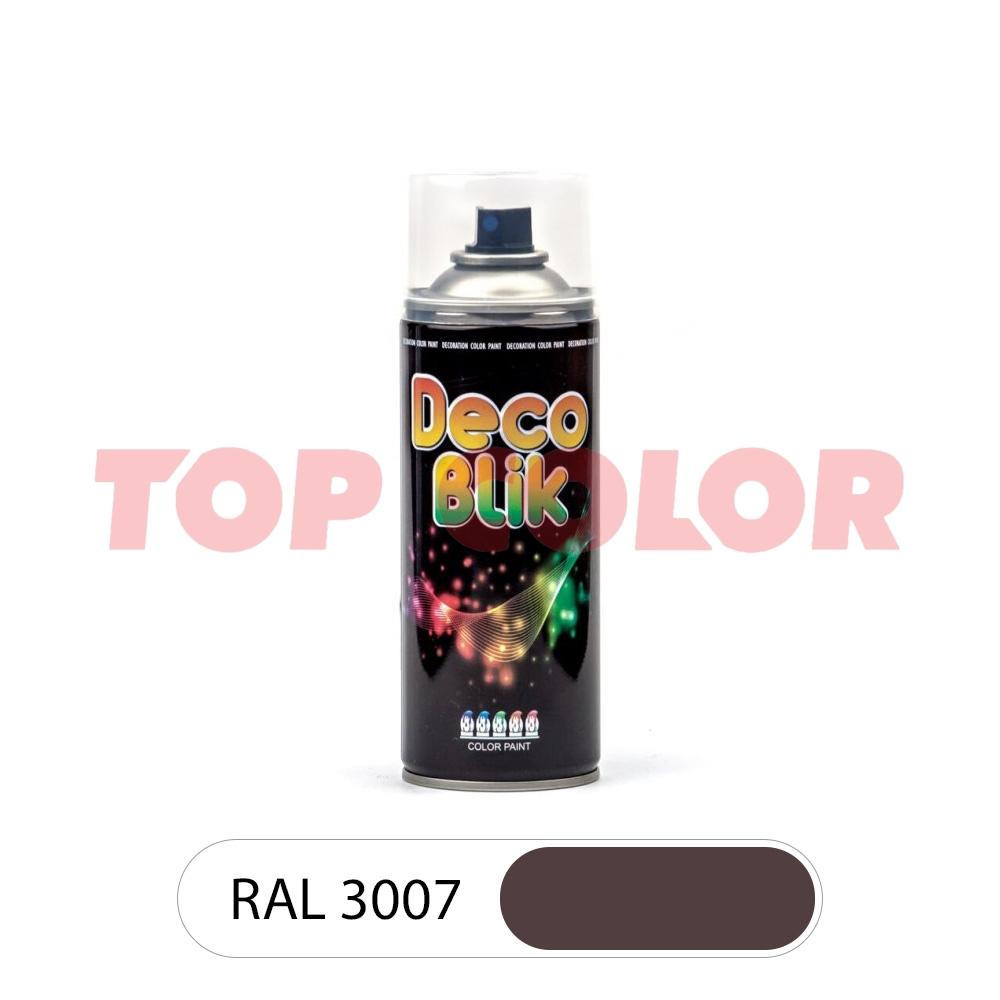 Аэрозольная краска DECO BLIK RAL 3007 Черно-красный 0,4л