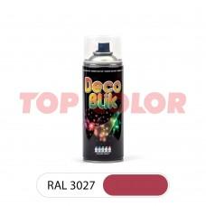 Спрей-краска в баллончике DECO BLIK RAL 3027 Малиновый 0,4л