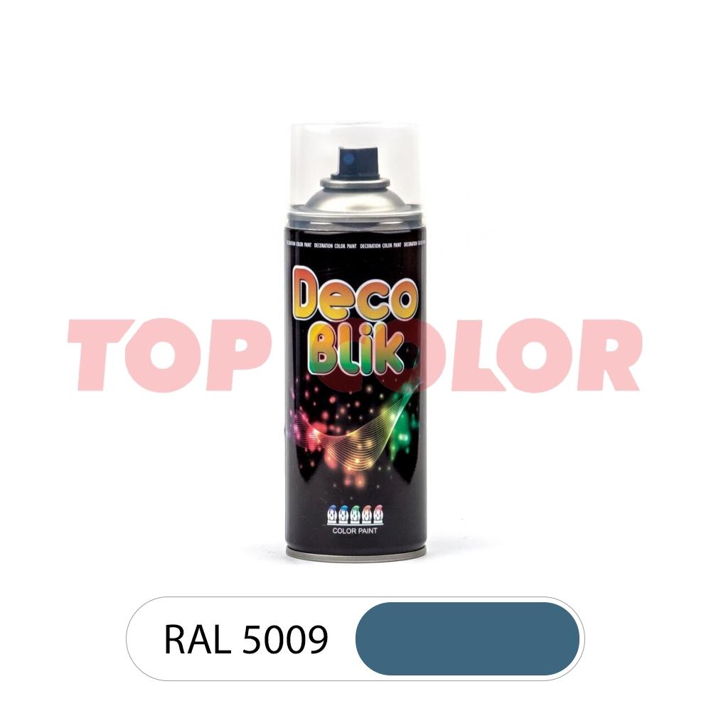 Аэрозольная краска DECO BLIK RAL 5009 Лазурно-синий 0,4л