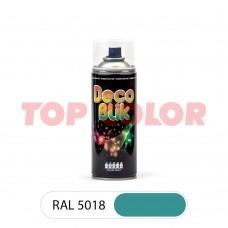 Спрей-краска в баллончике DECO BLIK RAL 5018 Бирюзово-синий 0,4л