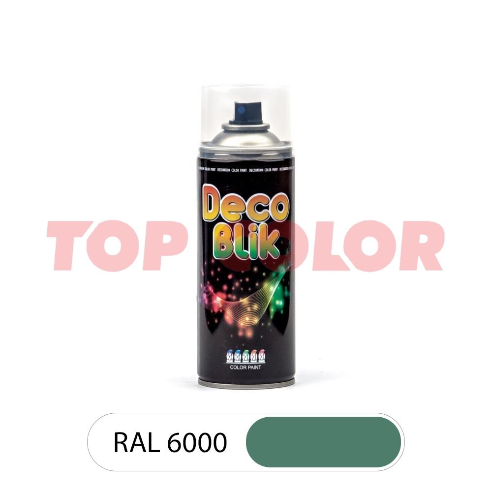 Аэрозольная краска DECO BLIK RAL 6000 Патиново-зеленый 0,4л