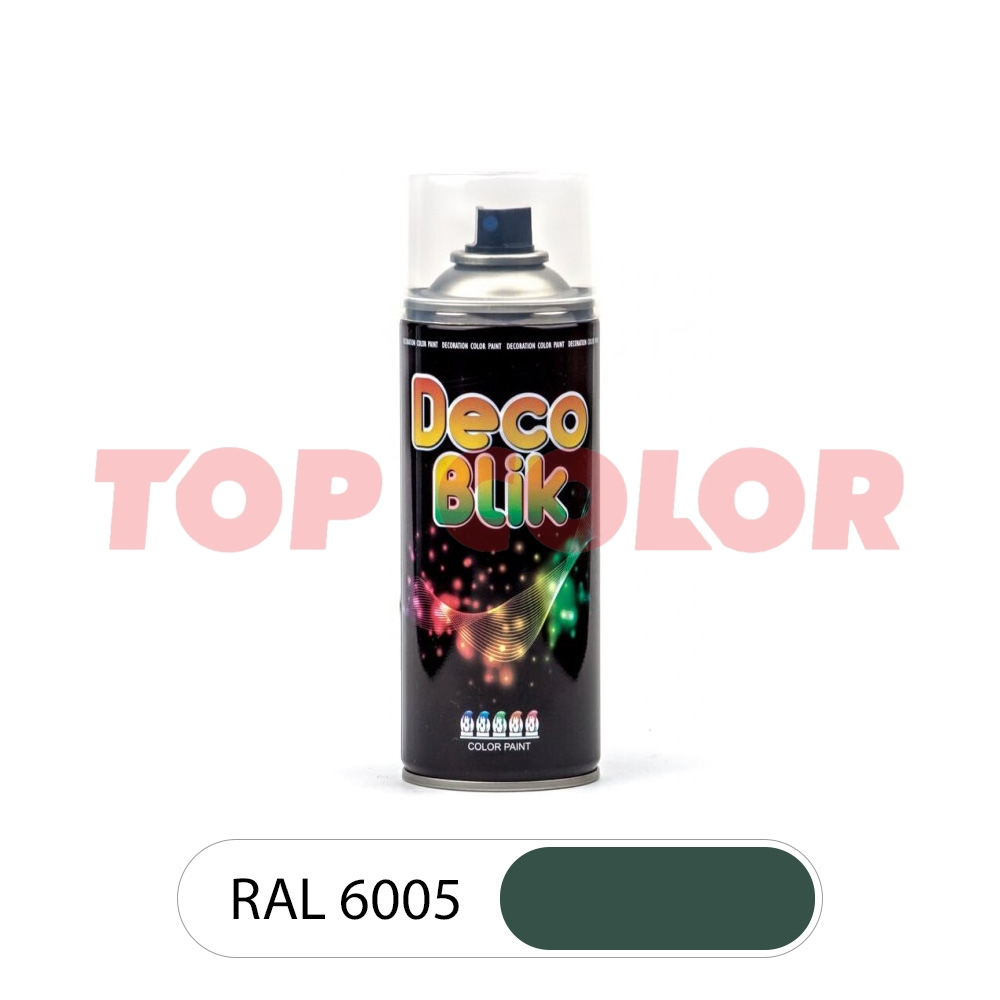 Аэрозольная краска DECO BLIK RAL 6005 Зеленый мох 0,4л