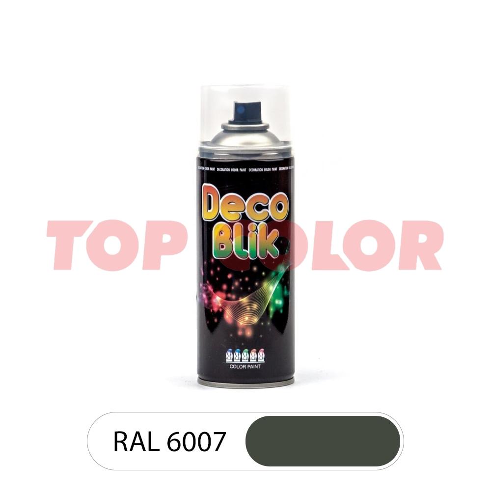Спрей-краска в баллончике DECO BLIK RAL 6007 Бутылочно-зеленый 0,4л