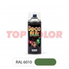 Спрей-краска в баллончике DECO BLIK RAL 6010 Травяной зеленый 0,4л