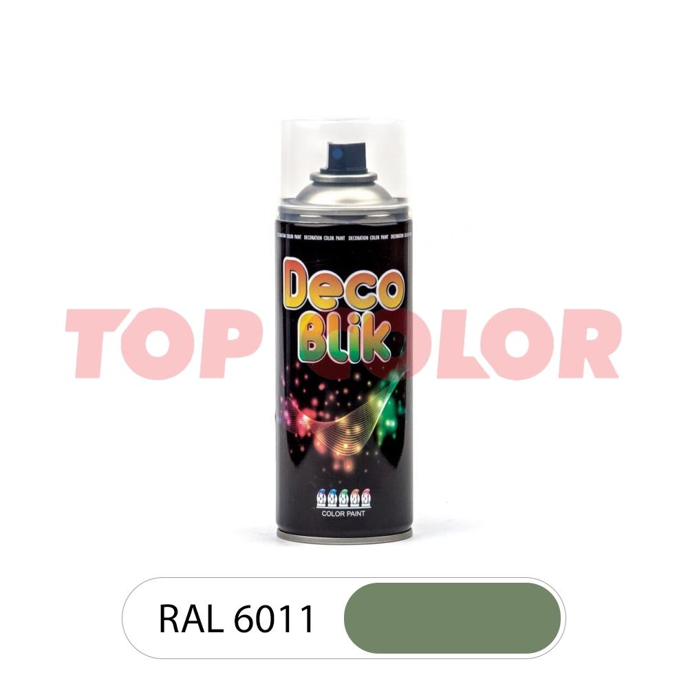 Аэрозольная краска DECO BLIK RAL 6011 Резедово-зеленый 0,4л