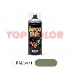 Спрей-краска в баллончике DECO BLIK RAL 6011 Резедово-зеленый 0,4л