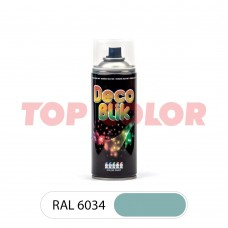 Спрей-краска в баллончике DECO BLIK RAL 6034 Пастельно-бирюзовый 0,4л