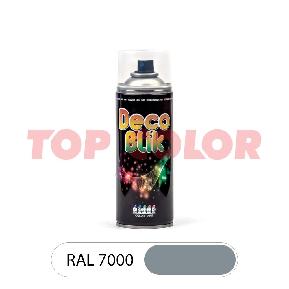 Аэрозольная краска DECO BLIK RAL 7000 Серая белка 0,4л