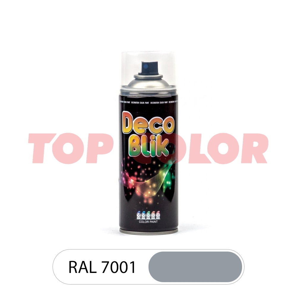 Аэрозольная краска DECO BLIK RAL 7001 Серебристо-серый 0,4л