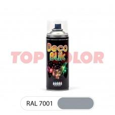 Спрей-краска в баллончике DECO BLIK RAL 7001 Серебристо-серый 0,4л