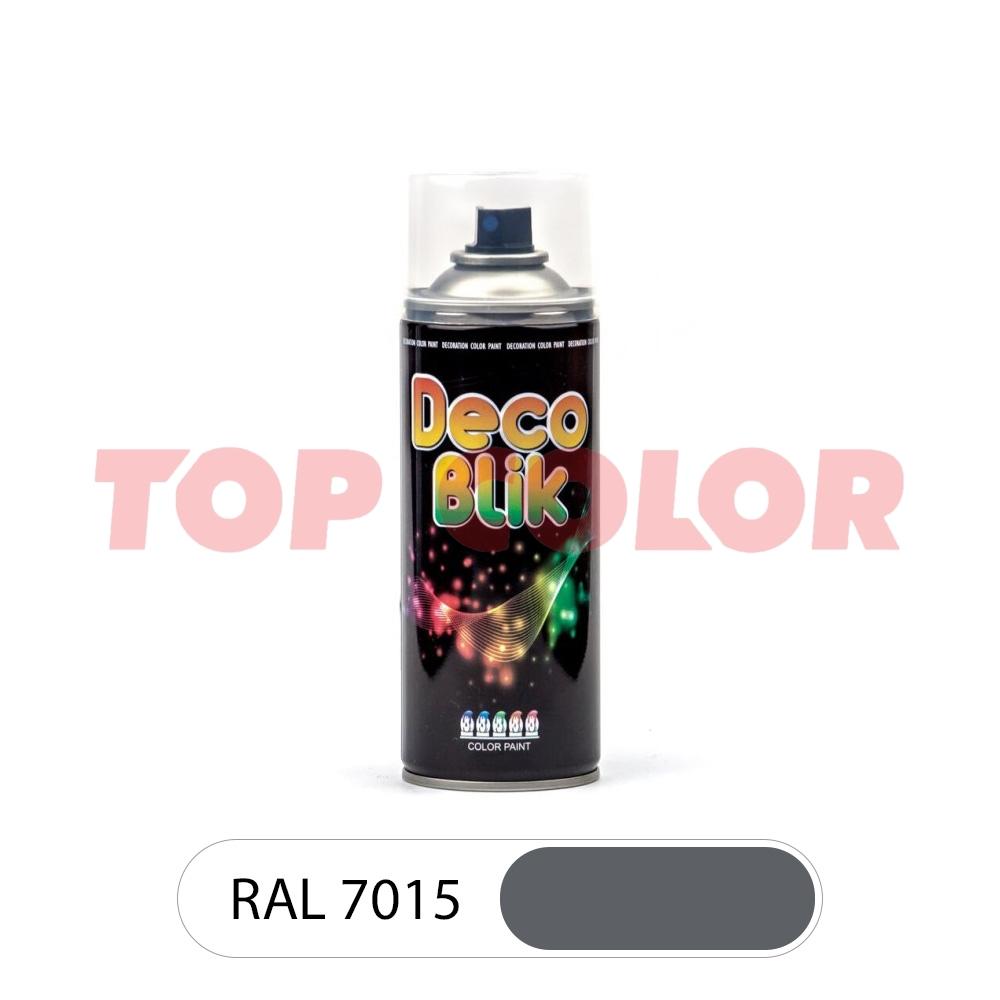 Аэрозольная краска DECO BLIK RAL 7015 Сланцево-серый 0,4л