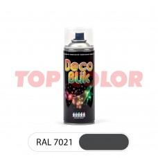 Спрей-краска в баллончике DECO BLIK RAL 7021 Черно-серый 0,4л