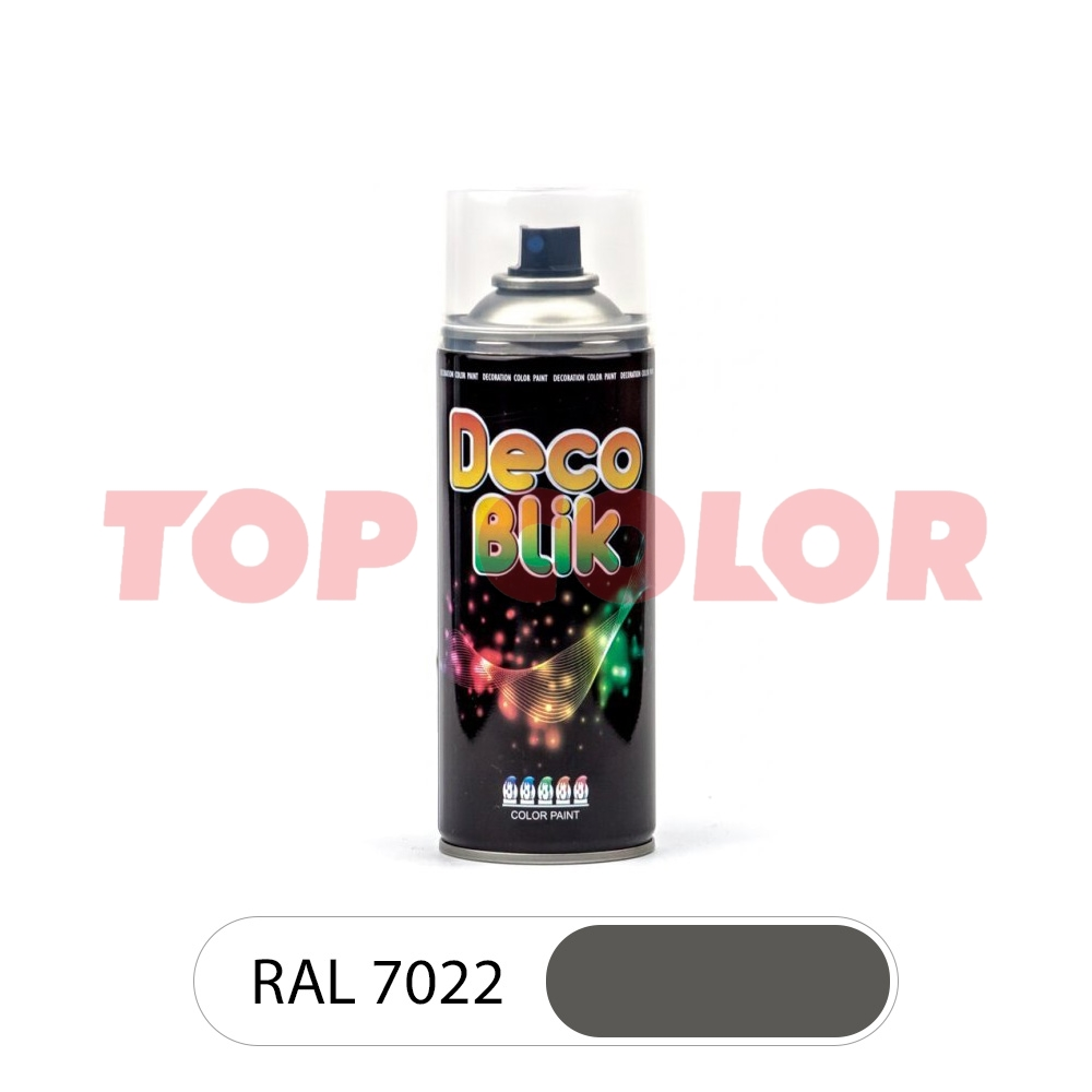 Спрей-краска в баллончике DECO BLIK RAL 7022 Серый бетон 0,4л