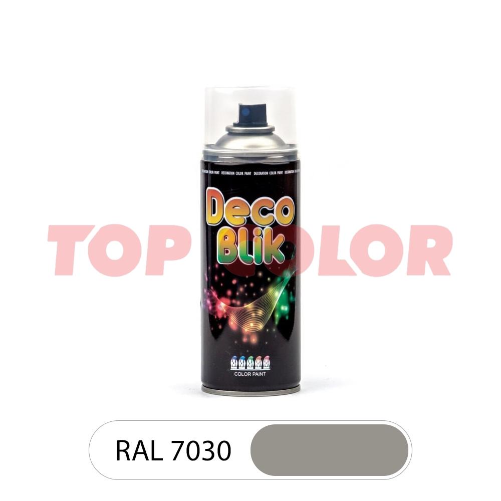 Аэрозольная краска DECO BLIK RAL 7030 Каменно-серый 0,4л