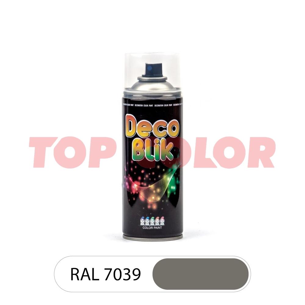 Аэрозольная краска DECO BLIK RAL 7039 Кварцевый серый 0,4л