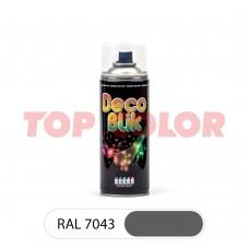 Спрей-краска в баллончике DECO BLIK RAL 7043 Транспортный серый В 0,4л