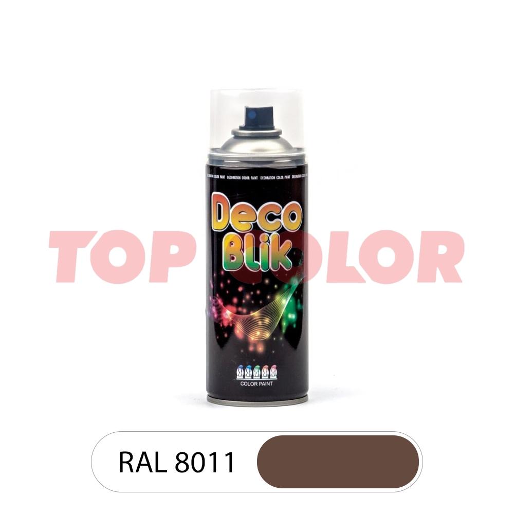 Аэрозольная краска DECO BLIK RAL 8011 Орехово-коричневый 0,4л