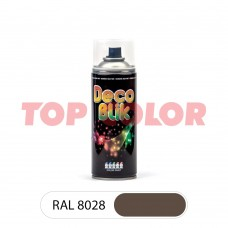 Спрей-краска в баллончике DECO BLIK RAL 8028 Земельно-коричневый 0,4л