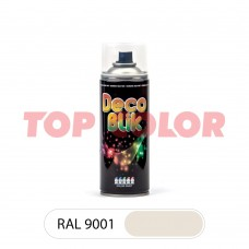 Спрей-краска в баллончике DECO BLIK RAL 9001 Кремово-белый 0,4л
