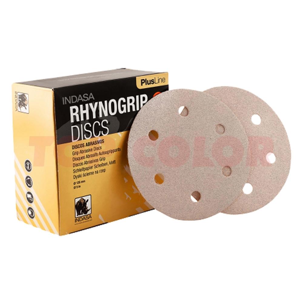 Абразивный круг INDASA Rhynogrip Plus Line 6 отв. 150мм P240 (пач. 50 шт.)