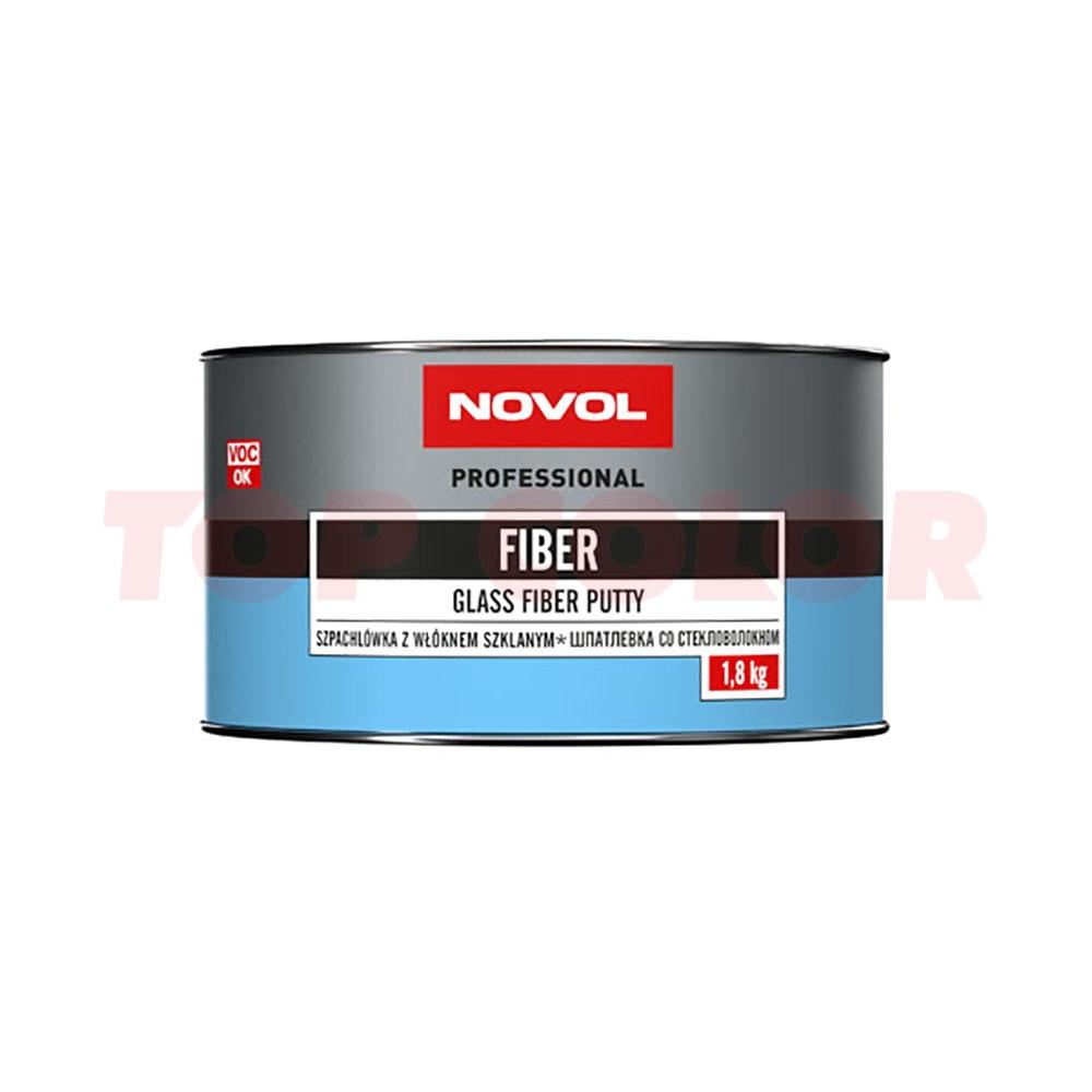 Шпаклевка со стекловолокном NOVOL FIBER 1225 1,8кг