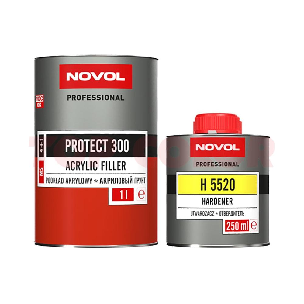 Грунт-наполнитель 4:1 MS NOVOL PROTECT 300 белый 1л + Отвердитель H5520 0,25л