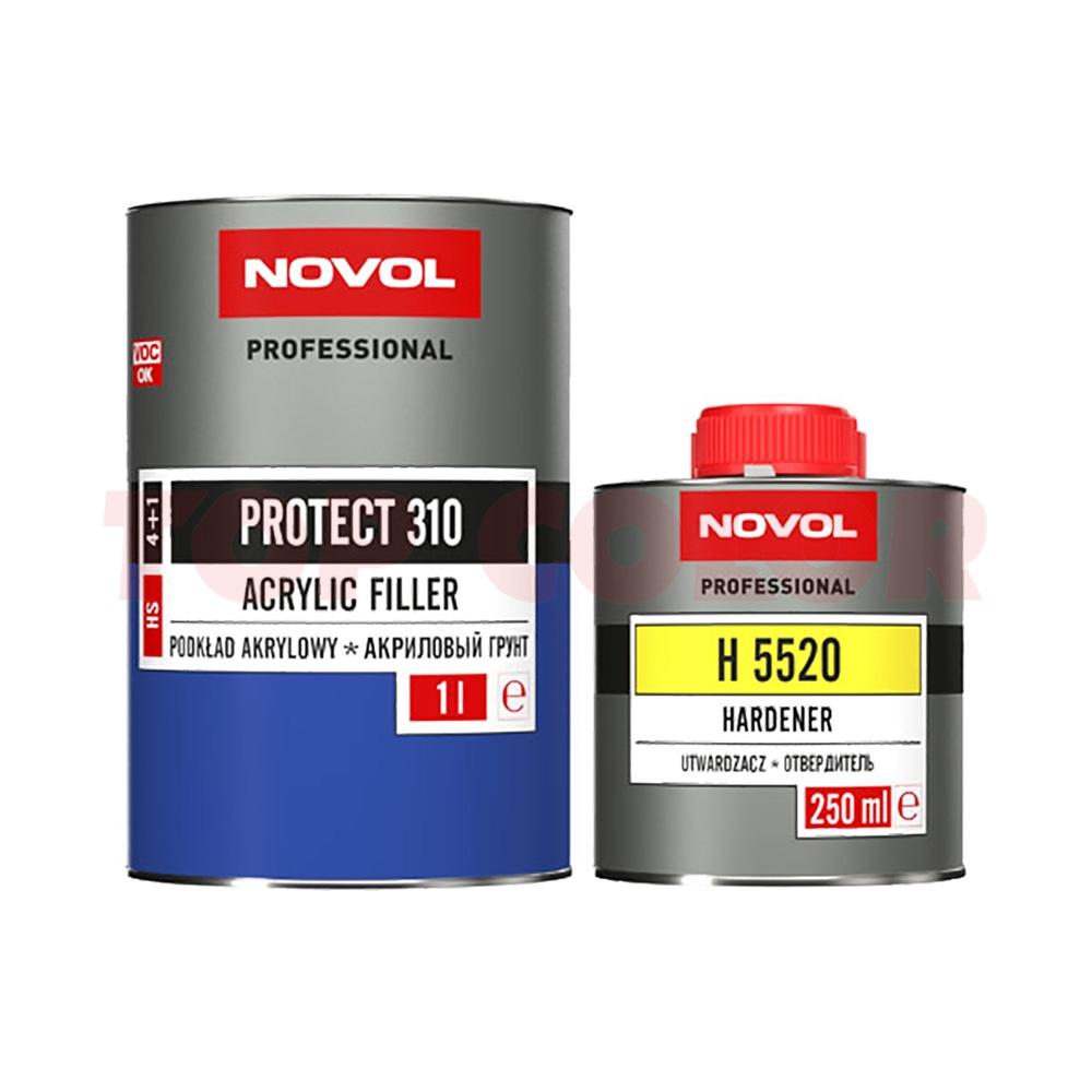 Грунт-наполнитель 4:1 HS NOVOL PROTECT 310 серый 1л + Отвердитель H5520 0,25л