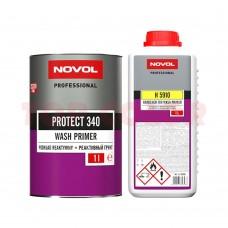 Реактивный грунт NOVOL PROTECT 340 1л + Отвердитель H5910 1л