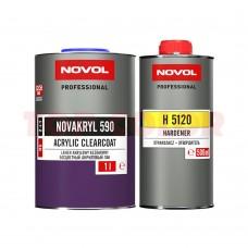 Лак автомобильный HS NOVOL NOVAKRYL 590 стойкий к царапинам 1л + Отвердитель H5120 стандартный 0,5л