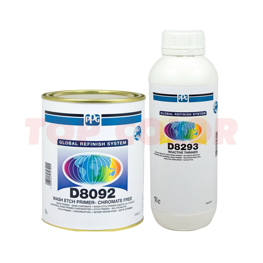 Антикорозионный фосфатирующий грунт PPG D8092 1л + Разбавитель D8293 1л
