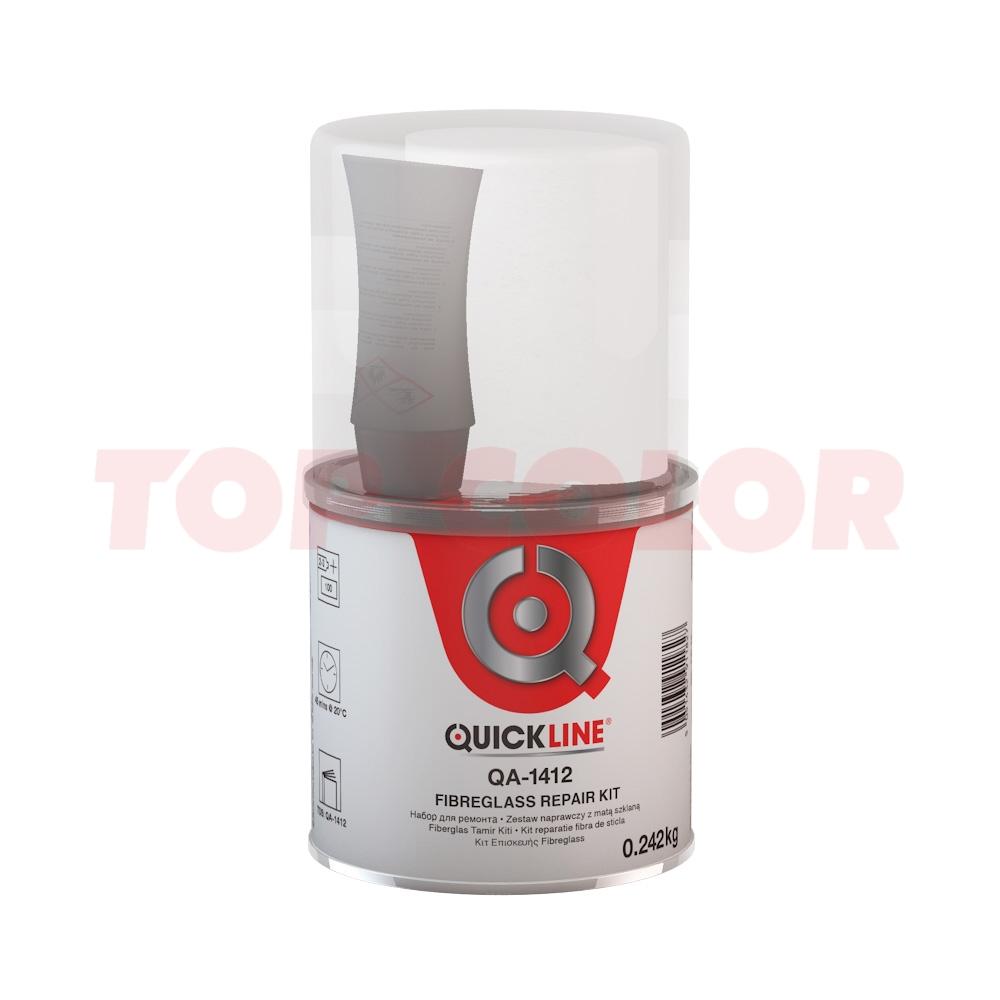 Набор для ремонта (полиэфирная смола + стеклоткань) QUICKLINE QA-1412 0,25кг