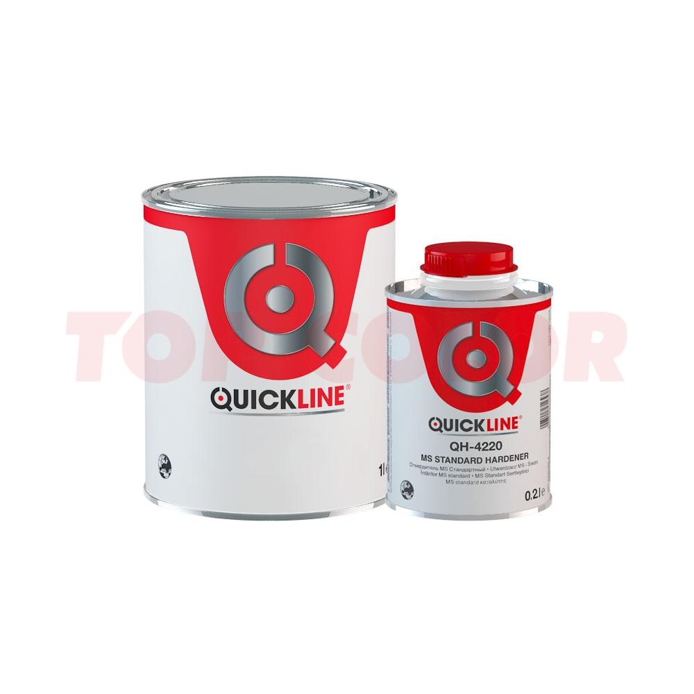 Грунт-наполнитель 4:1 QUICKLINE QP-3411 белый 0,8л + Отвердитель MS QH-4220 стандартный 0,2л