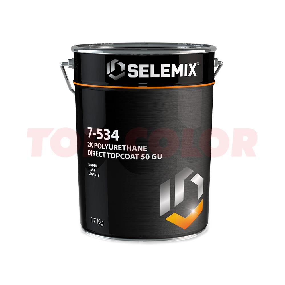 Грунт-эмаль 2K полиуретановая глянец 50% (темные тона) SELEMIX 7-534 17кг