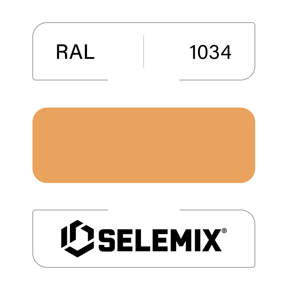 Грунт-эмаль полиуретановая SELEMIX 7-525 Глянец 70% RAL 1034 Пастельно-желтый 1кг