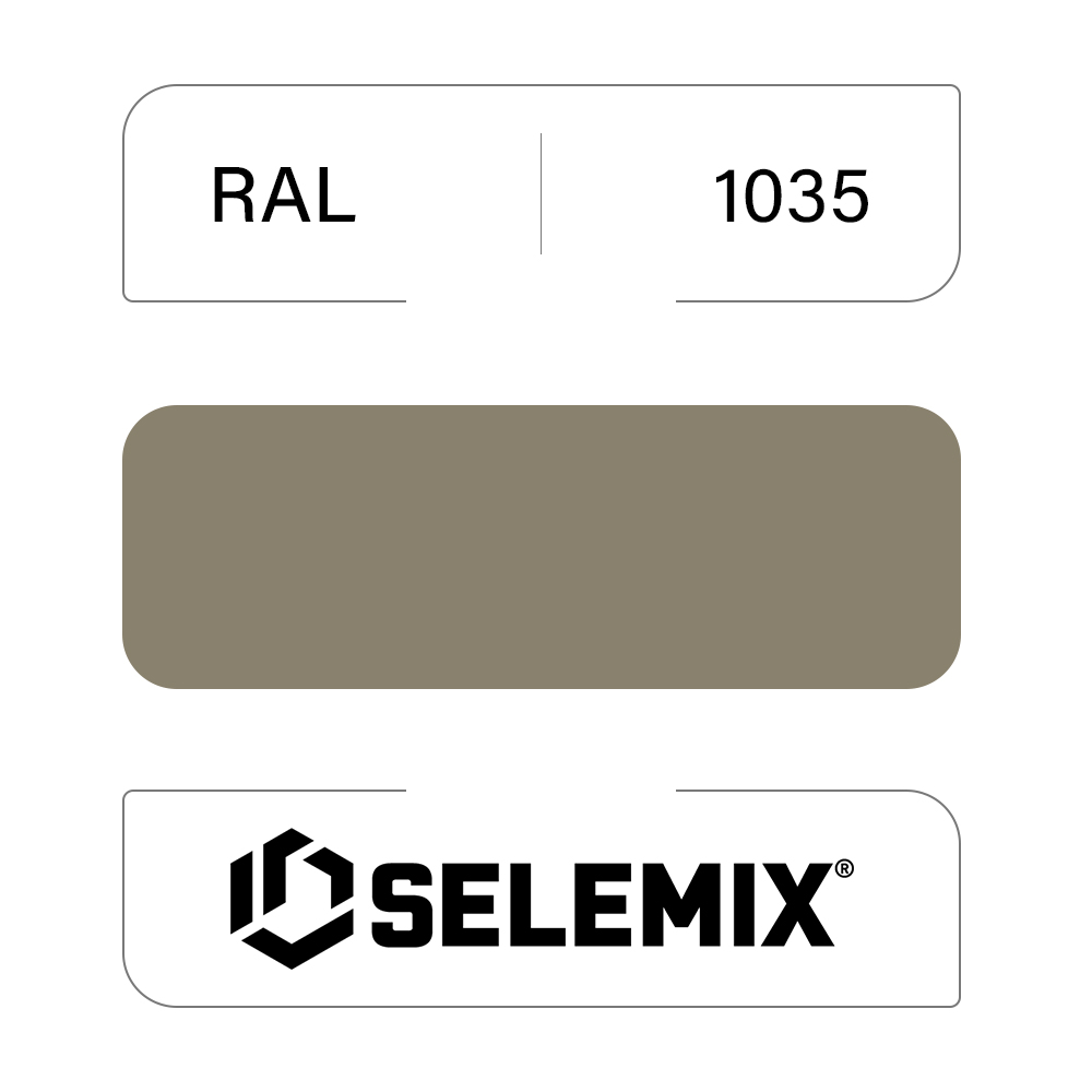 Грунт-эмаль полиуретановая SELEMIX 7-536 Глянец 70% RAL 1035 Жемчужно-бежевый 1кг