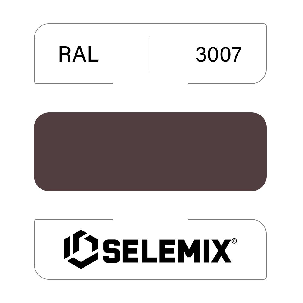 Эмаль хлор-алкидная быстросохнущая SELEMIX 7-910 RAL 3007 Черно-красный 1кг