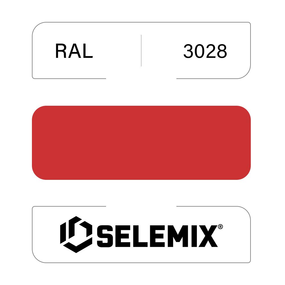 Эмаль хлор-алкидная быстросохнущая SELEMIX 7-910 RAL 3028 Красный 1кг