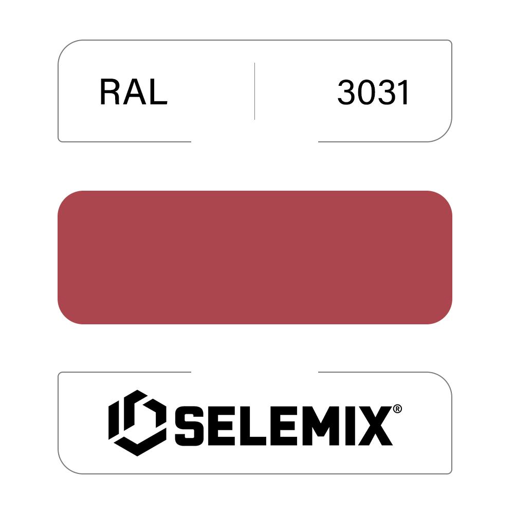 Грунт-эмаль полиуретановая SELEMIX 7-538 Глянец 80% RAL 3031 Восточный красный 1кг