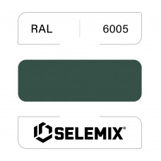 Эмаль синтетическая быстросохнущая SELEMIX 7-610 RAL 6005 Зеленый мох 1кг