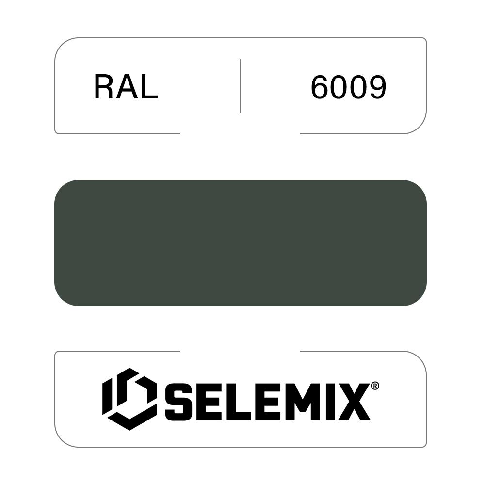 Эмаль синтетическая быстросохнущая SELEMIX 7-610 RAL 6009 Пихтовый зеленый 1кг