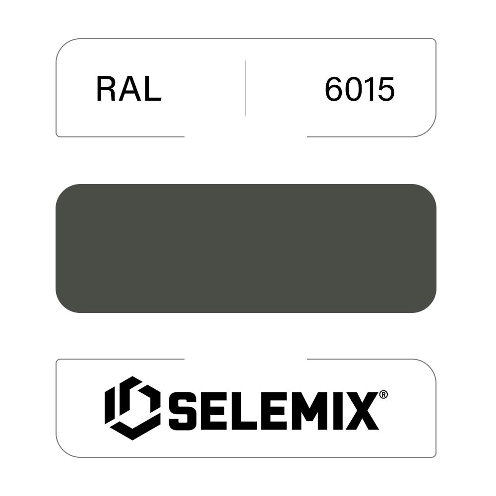 Эмаль хлор-алкидная быстросохнущая SELEMIX 7-910 RAL 6015 Черно-оливковый 1кг