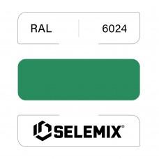 Эмаль хлор-алкидная быстросохнущая SELEMIX 7-910 RAL 6024 Транспортный зеленый 1кг
